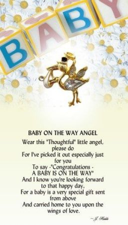A Baby on the Way Angel Pin