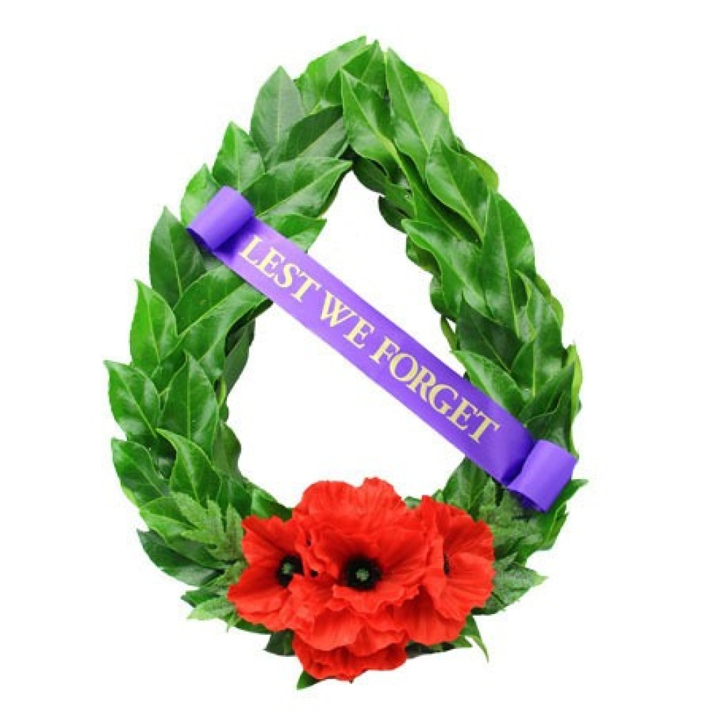 Laruel Wreath Flowers ANZAC