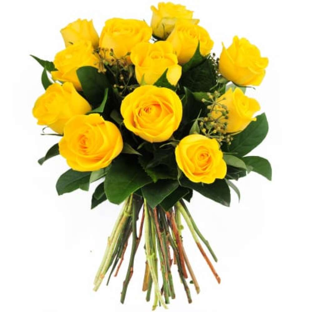 Golden Glow 12 Yellow Roses Bouquet