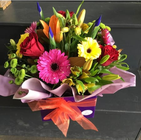 Rainbow Flower Box Arrangement