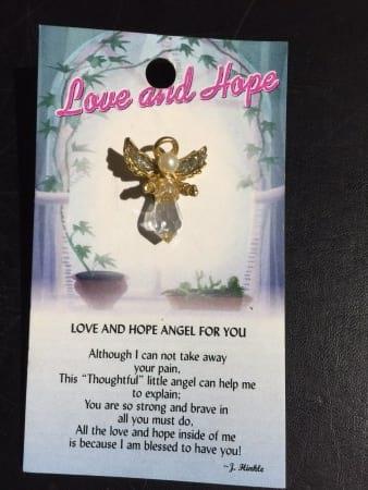 Angel of Love and Hope Angel Pin