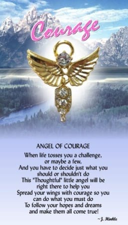 Angel of Courage Pin