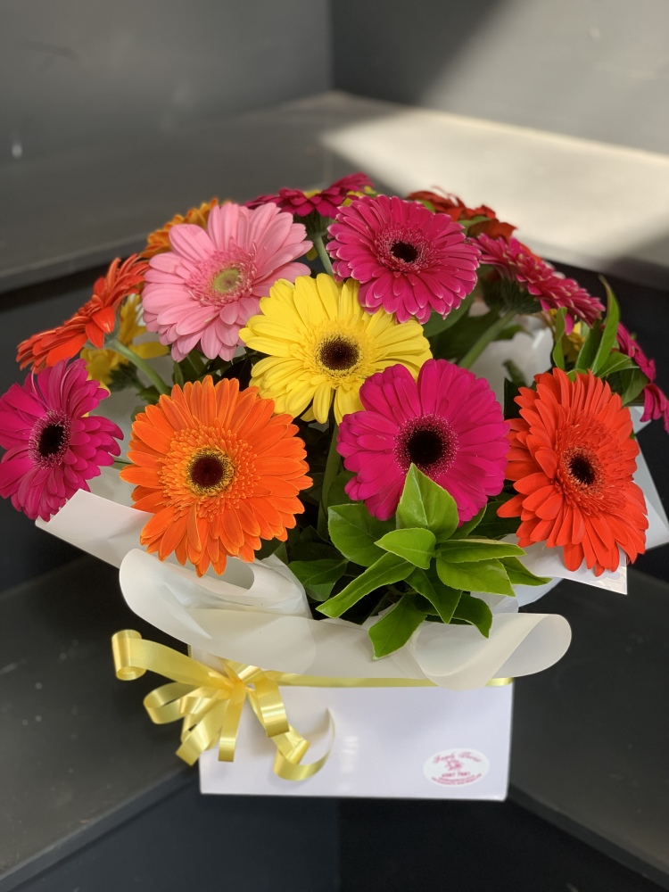 Happy Days (Gerbera box arrangement)