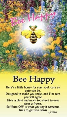 Bee Happy Angel Pin