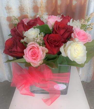 Love Medley Roses Arrangement