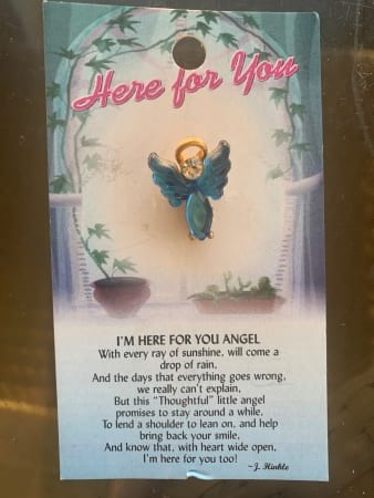 Here for you Angel Pin