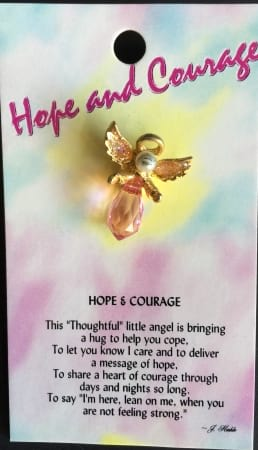 Hope and Courage Angels Pin