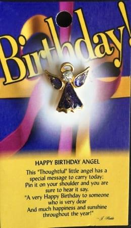 Birthday Angel Pin