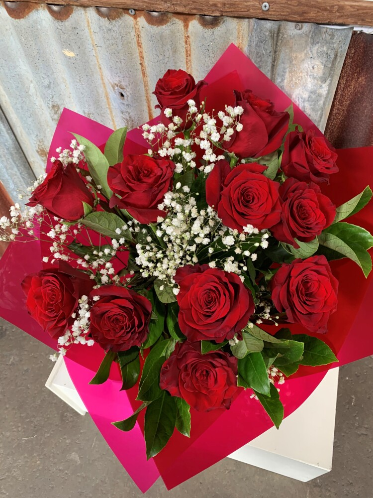The One  Dozen Red Roses Bouquet
